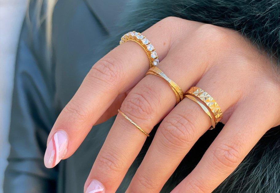 14 karat forgyldt Ringe