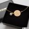 ID Tag, guld armbånd med perle - inklusiv gravering!