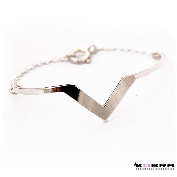 Sølv armbånd i trekantet design, model Lennox