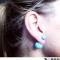Blå perle øreringe