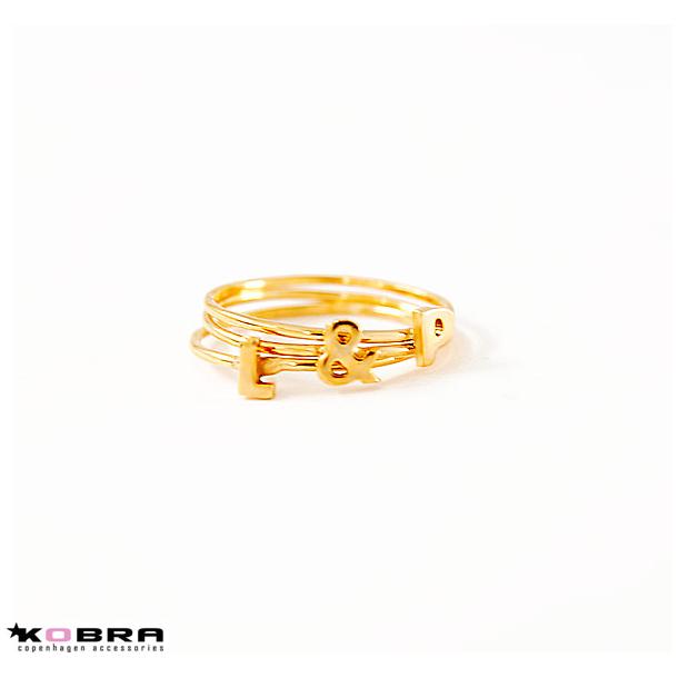 Alfabet ring i guld, håndlavet - vælg dit bogstav eller symbol