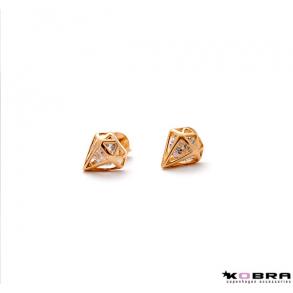 Guld diamantörhängen