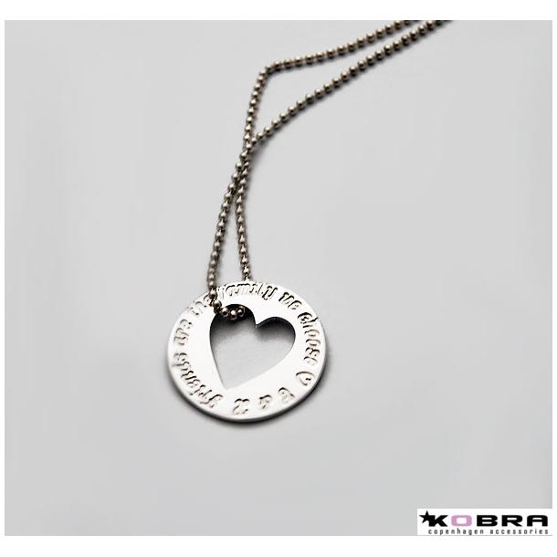 Love Wheel i sølv med udskåret hjerte, inklusiv gravering