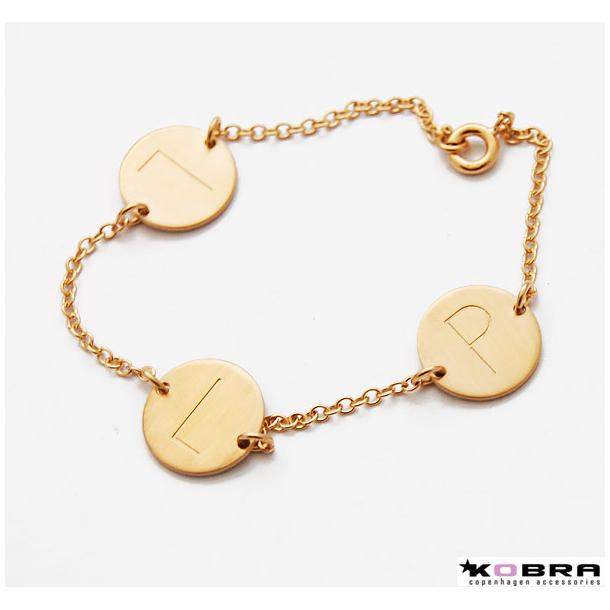 ID Tag armbånd i guld med 2 Tags eller flere