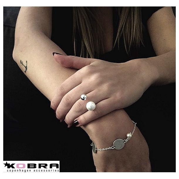 ID Tag armbånd i sølv med 2 Tags eller mere samt perle