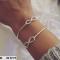 Sølv armbånd med Infinity - one size