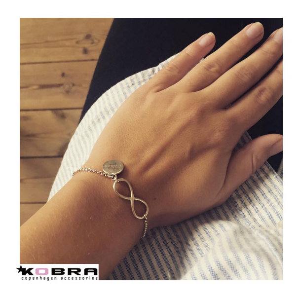 Infinity Silver Bracelet With Infinity Symbol And Id Tag Incl
