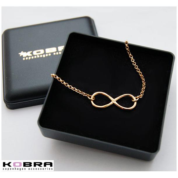 Infinity - guld armbånd med uendelighedstegnet