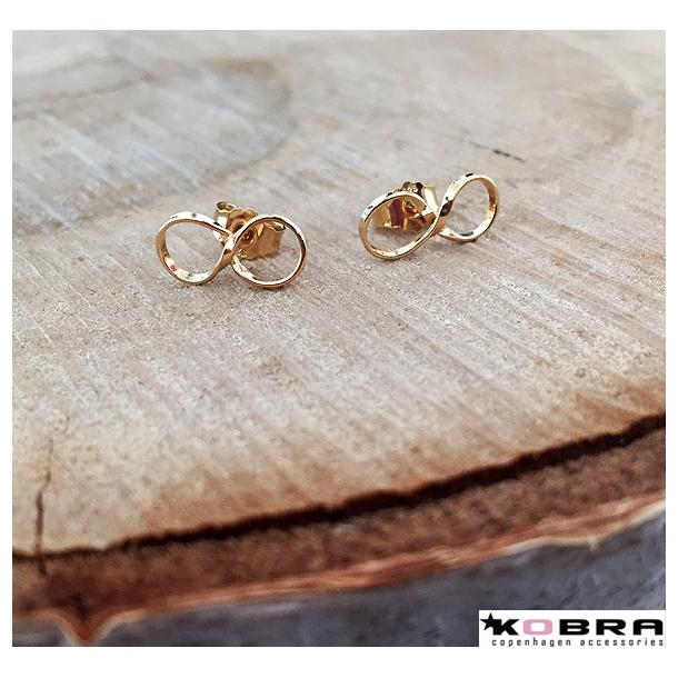 Små Infinity øreringe i guld