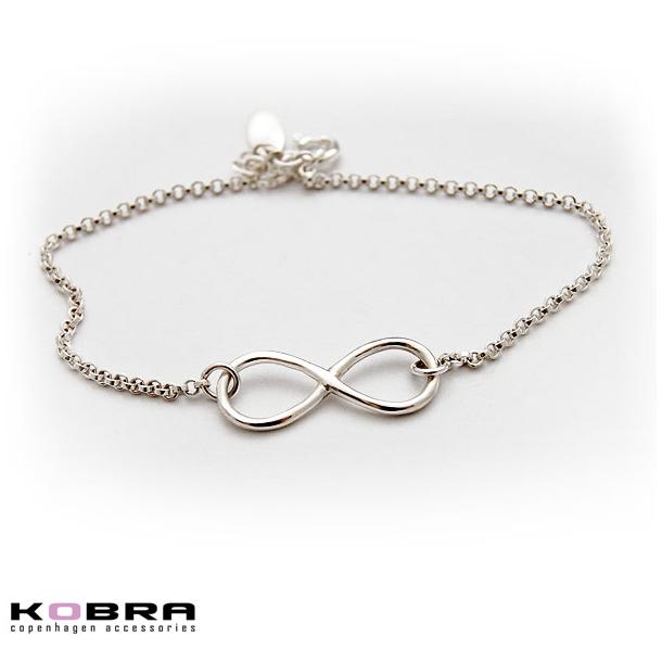 Infinity - sølv armbånd med uendelighedstegnet
