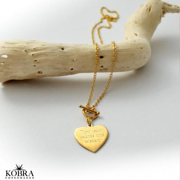 guld halskæde med hjerte