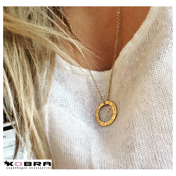 Love Wheel med hjerte i guld, inklusiv din gravering