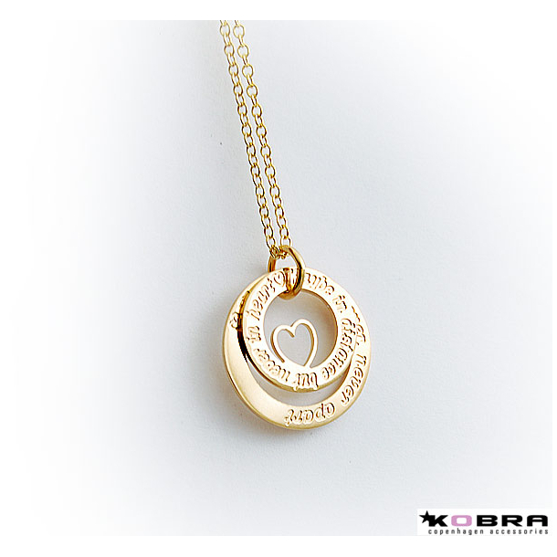 Halsband hjärta gravyr cc707fb3a1b37