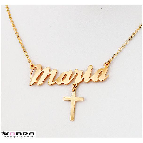 halsband med namn guld