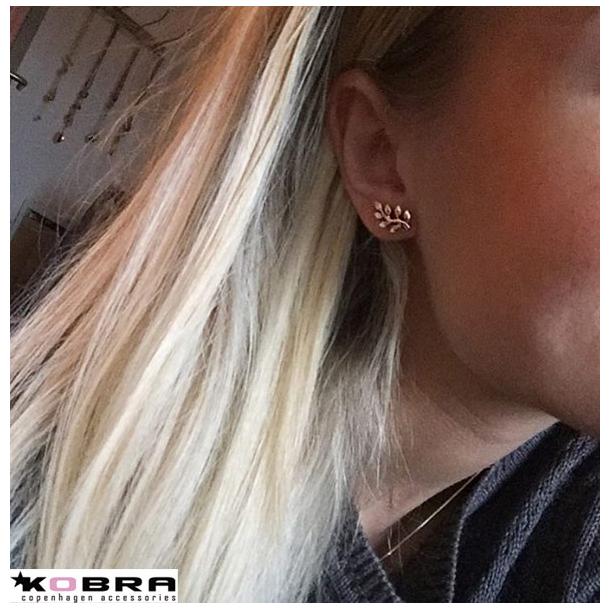Guld øreringe