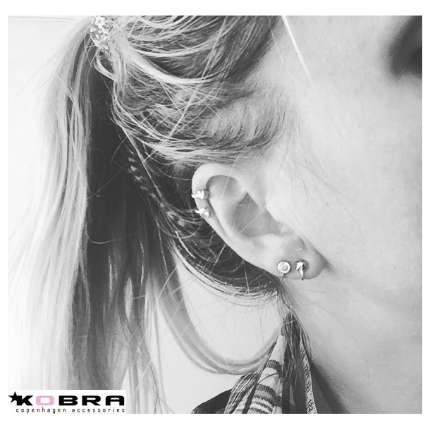Sølv øreringe / earcuff