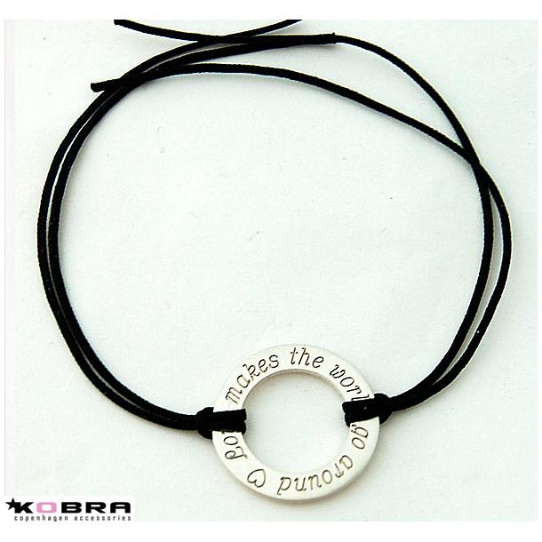 Armbånd med Love Wheel i sølv, inklusiv personlig gravering