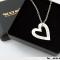 Love Heart, hjerte halskæde i sølv inklusiv gravering