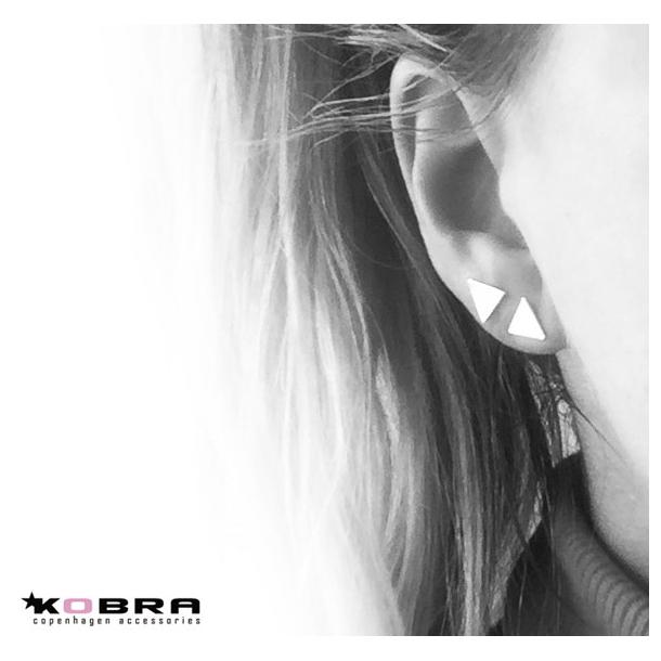 Trekantet øreringe
