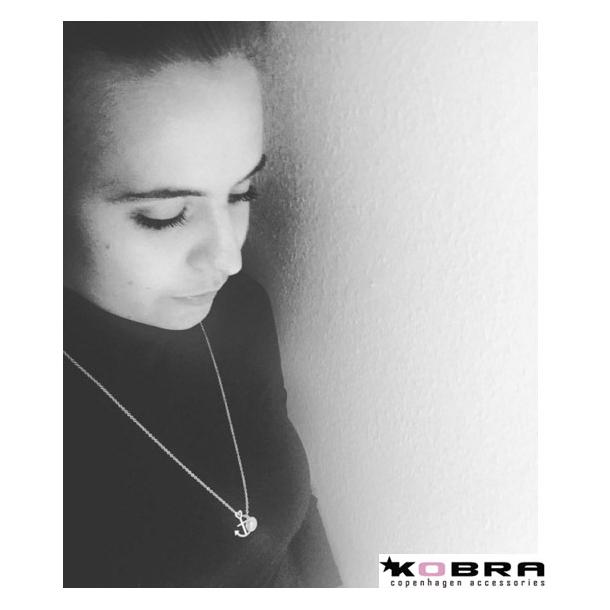 Tro, Håb og Kærlighed, sølv halskæde med lille personligt graveret ID tag