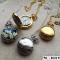 Halskæde med guld lommeur i vintage stil, med personlig gravering