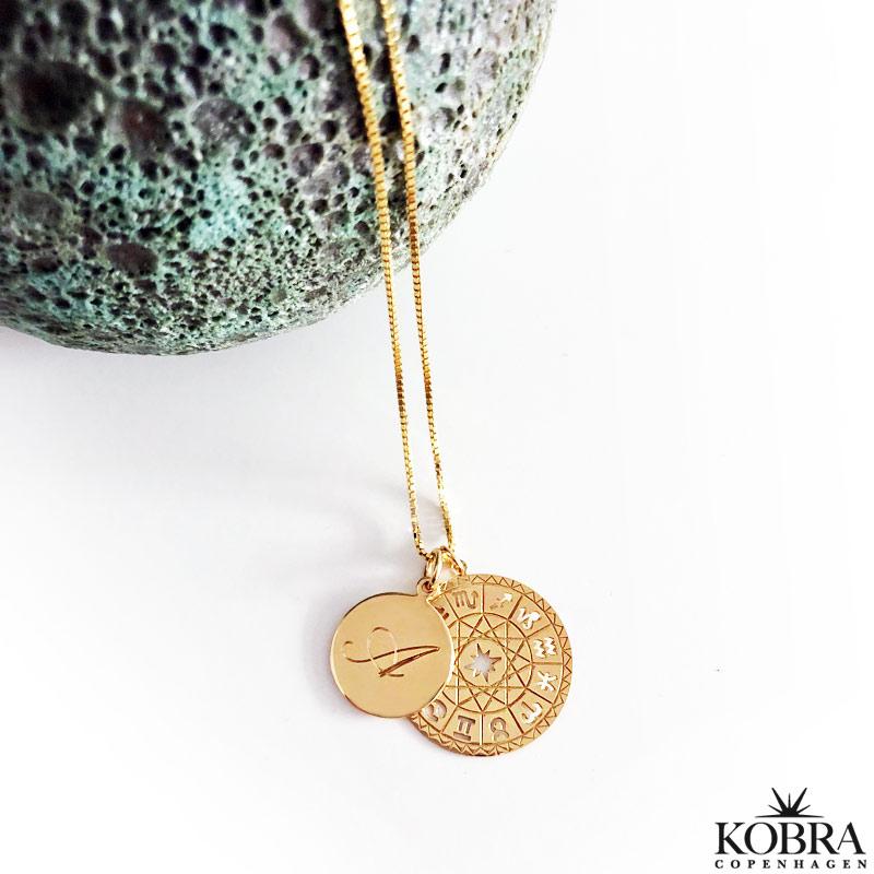 Stjärntecken halsband guld